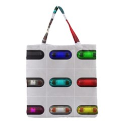 9 Power Button Grocery Tote Bag by Simbadda