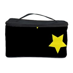 Moon Star Light Black Night Yellow Cosmetic Storage Case by Alisyart