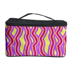 Pink Yelllow Line Light Purple Vertical Cosmetic Storage Case by Alisyart