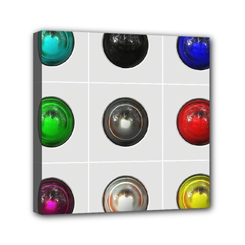 9 Power Buttons Mini Canvas 6  X 6  by Simbadda