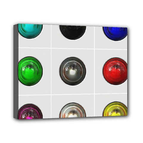 9 Power Buttons Canvas 10  X 8  by Simbadda