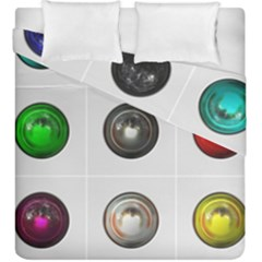 9 Power Buttons Duvet Cover Double Side (king Size) by Simbadda