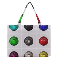 9 Power Buttons Medium Zipper Tote Bag by Simbadda
