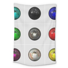 9 Power Buttons Large Tapestry by Simbadda