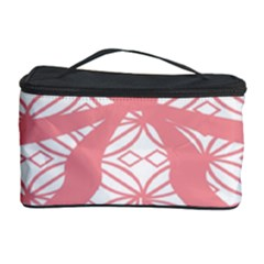 Pink Plaid Circle Cosmetic Storage Case by Alisyart