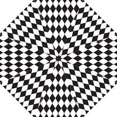 Plaid Triangle Line Wave Chevron Black White Red Beauty Argyle Straight Umbrellas by Alisyart