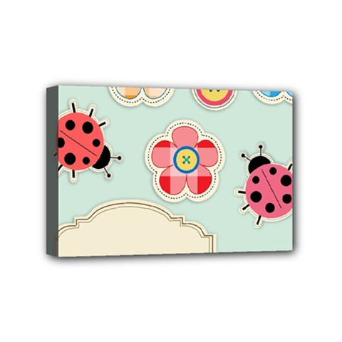 Buttons & Ladybugs Cute Mini Canvas 6  X 4  by Simbadda