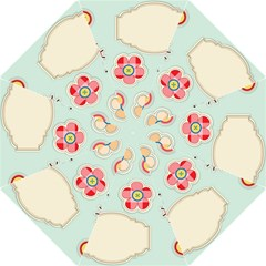 Buttons & Ladybugs Cute Straight Umbrellas by Simbadda