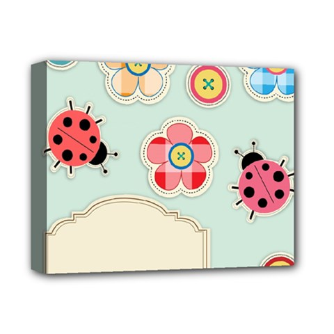Buttons & Ladybugs Cute Deluxe Canvas 14  X 11  by Simbadda
