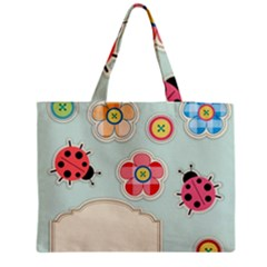Buttons & Ladybugs Cute Medium Tote Bag by Simbadda