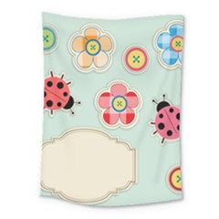 Buttons & Ladybugs Cute Medium Tapestry by Simbadda