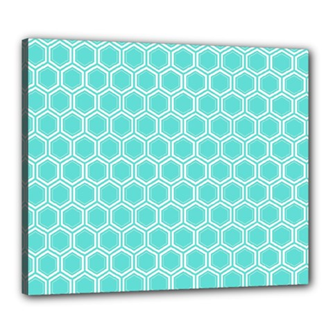 Plaid Circle Blue Wave Canvas 24  X 20  by Alisyart