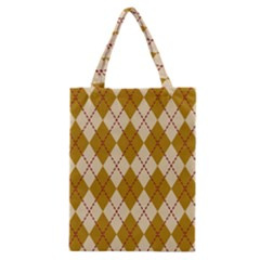 Plaid Triangle Line Wave Chevron Orange Red Grey Beauty Argyle Classic Tote Bag by Alisyart