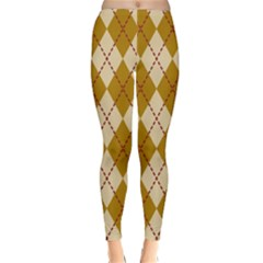 Plaid Triangle Line Wave Chevron Orange Red Grey Beauty Argyle Classic Winter Leggings by Alisyart