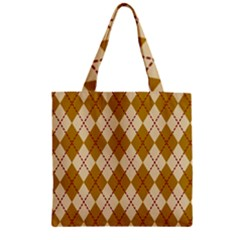 Plaid Triangle Line Wave Chevron Orange Red Grey Beauty Argyle Zipper Grocery Tote Bag by Alisyart