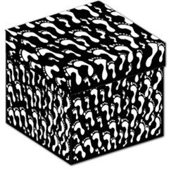 Population Soles Feet Foot Black White Storage Stool 12   by Alisyart