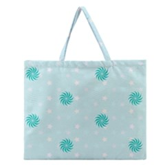 Star White Fan Blue Zipper Large Tote Bag by Alisyart
