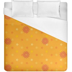 Star White Fan Orange Gold Duvet Cover (king Size) by Alisyart