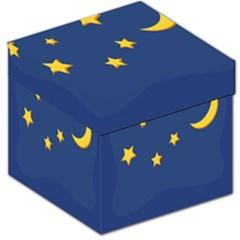 Starry Star Night Moon Blue Sky Light Yellow Storage Stool 12   by Alisyart