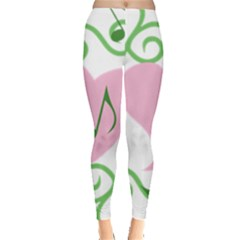 Sweetie Belle s Love Heart Music Note Leaf Green Pink Leggings  by Alisyart