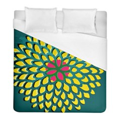 Sunflower Flower Floral Pink Yellow Green Duvet Cover (full/ Double Size) by Alisyart