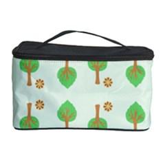 Tree Circle Green Yellow Grey Cosmetic Storage Case by Alisyart