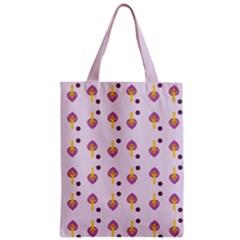 Tree Circle Purple Yellow Zipper Classic Tote Bag by Alisyart