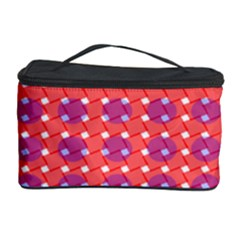 Roll Circle Plaid Triangle Red Pink White Wave Chevron Cosmetic Storage Case by Alisyart