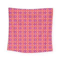 Roll Circle Plaid Triangle Red Pink White Wave Chevron Square Tapestry (small) by Alisyart