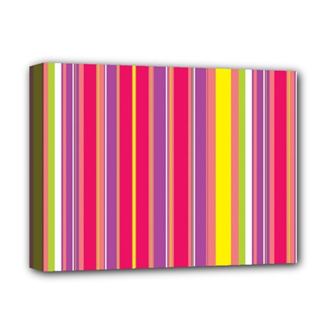 Stripes Colorful Background Deluxe Canvas 16  X 12   by Simbadda