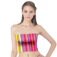 Stripes Colorful Background Tube Top