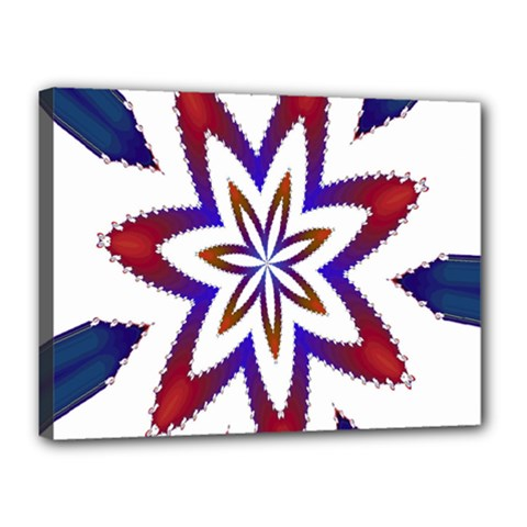 Fractal Flower Canvas 16  X 12  by Simbadda