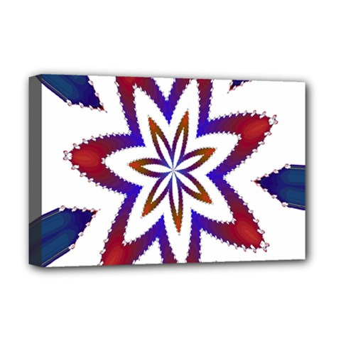 Fractal Flower Deluxe Canvas 18  X 12   by Simbadda