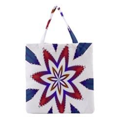 Fractal Flower Grocery Tote Bag by Simbadda