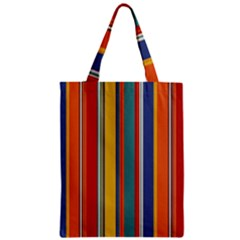 Stripes Background Colorful Zipper Classic Tote Bag by Simbadda