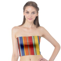 Stripes Background Colorful Tube Top