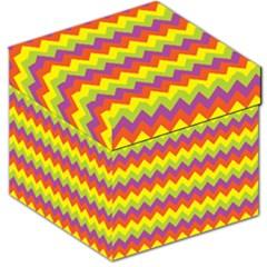 Colorful Zigzag Stripes Background Storage Stool 12   by Simbadda