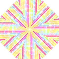 Abstract Stripes Colorful Background Hook Handle Umbrellas (small) by Simbadda