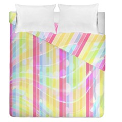 Abstract Stripes Colorful Background Duvet Cover Double Side (queen Size) by Simbadda