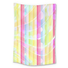 Abstract Stripes Colorful Background Large Tapestry by Simbadda