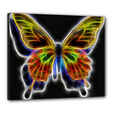 Fractal Butterfly Canvas 24  X 20  by Simbadda