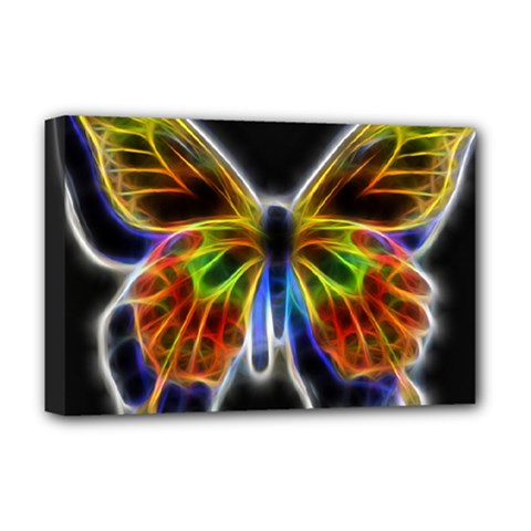 Fractal Butterfly Deluxe Canvas 18  X 12   by Simbadda
