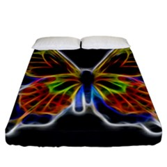 Fractal Butterfly Fitted Sheet (california King Size) by Simbadda