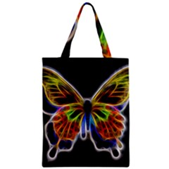 Fractal Butterfly Zipper Classic Tote Bag by Simbadda