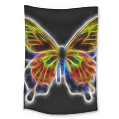 Fractal Butterfly Large Tapestry by Simbadda