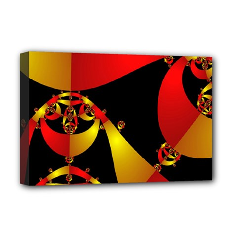 Fractal Ribbons Deluxe Canvas 18  X 12   by Simbadda