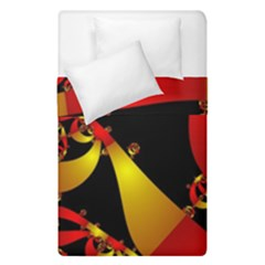 Fractal Ribbons Duvet Cover Double Side (single Size) by Simbadda