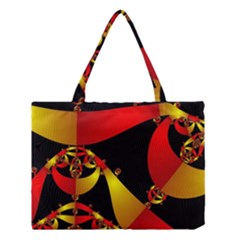 Fractal Ribbons Medium Tote Bag by Simbadda
