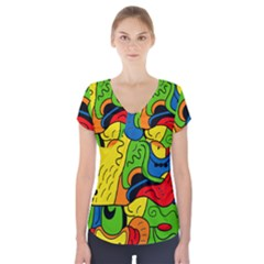 Mexico Short Sleeve Front Detail Top by Valentinaart