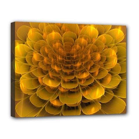 Yellow Flower Canvas 14  X 11  by Simbadda